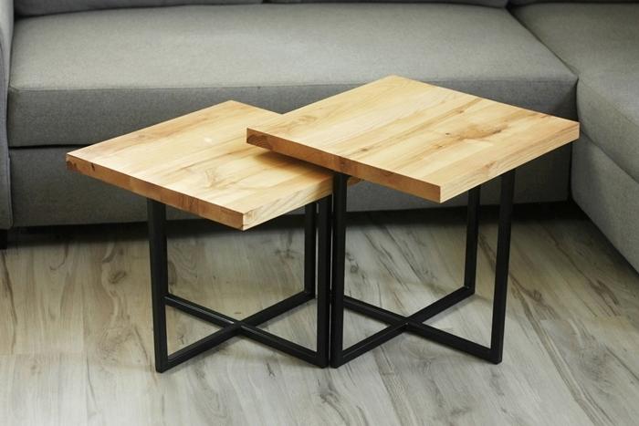stolik debowy bogdany009a Podwójne stoliki kawowe   bliźniaki