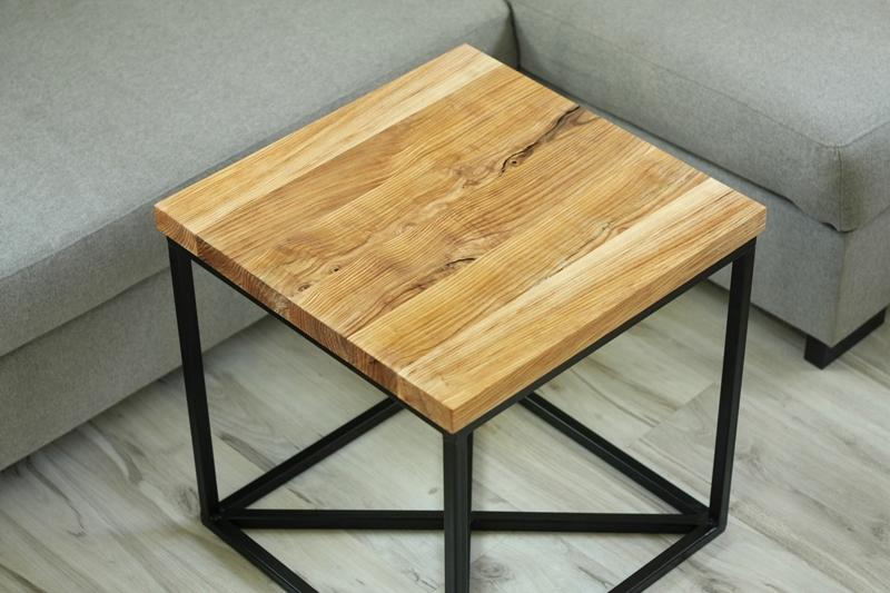 szczotkowany stolik kawowy Szczotkowany stolik z jesionu