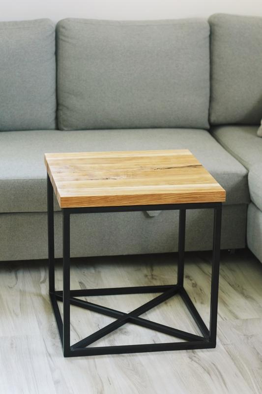 szczotkowany stolik kawowy1 Szczotkowany stolik z jesionu