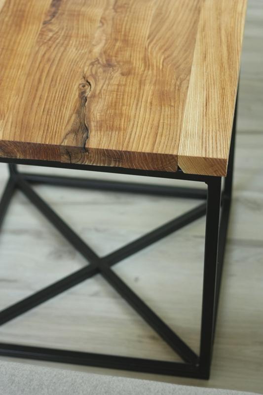 szczotkowany stolik kawowy3 Szczotkowany stolik z jesionu