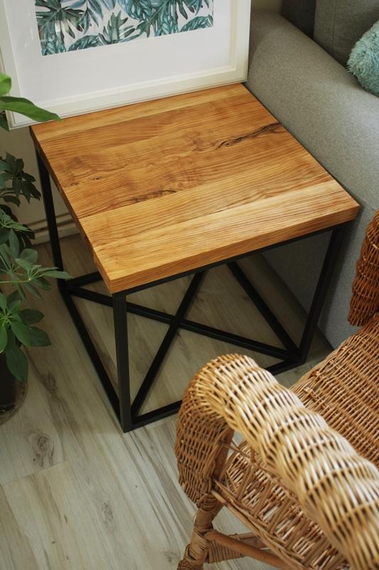 szczotkowany stolik kawowy9 Szczotkowany stolik z jesionu