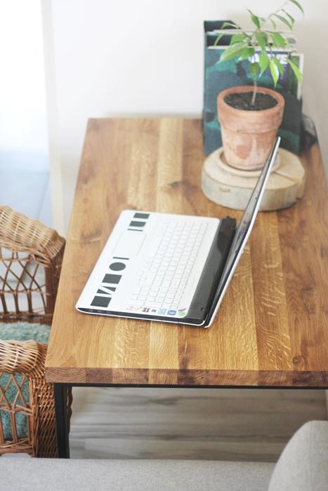 aIMG 6508 Bardzo rustykalne biurko z dębu