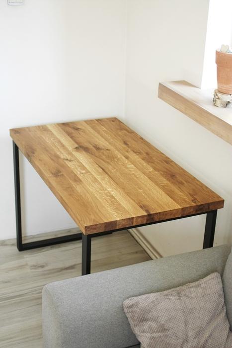 aIMG 6580 Bardzo rustykalne biurko z dębu
