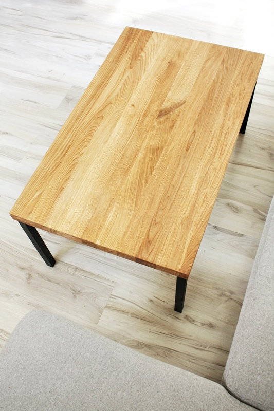 stolik debowy013a Duży stolik kawowy / proste nogi