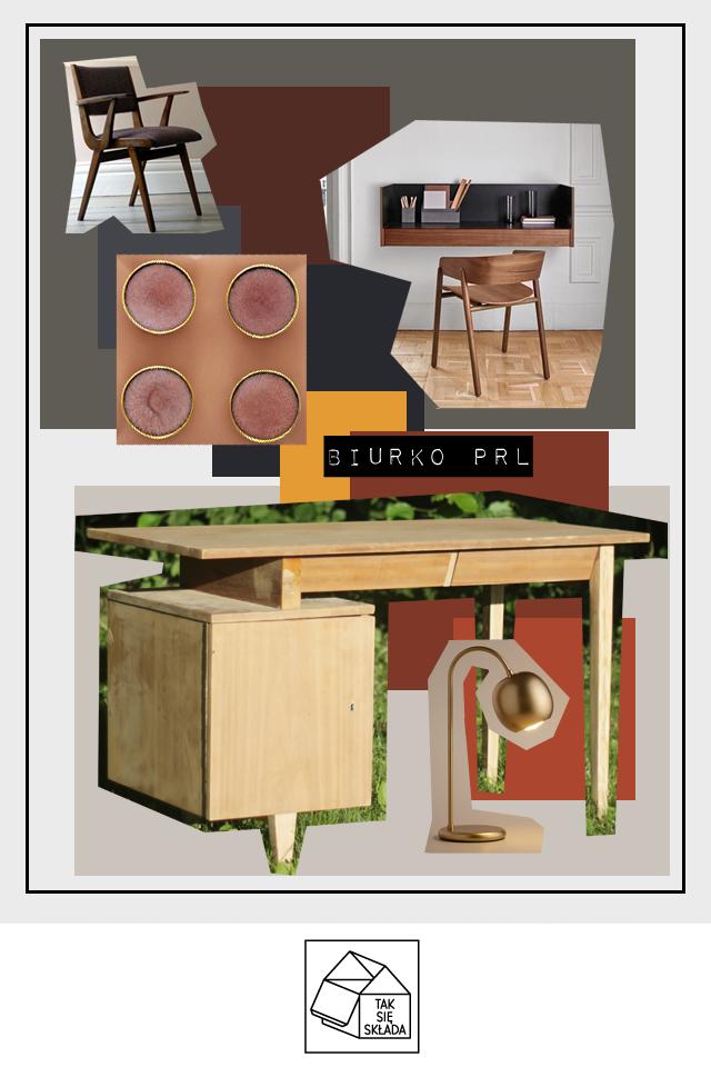 moodboard Metamorfoza biurka PRL