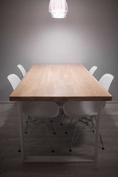 stoldebowy010 Bielony stół klasy AB dębowy