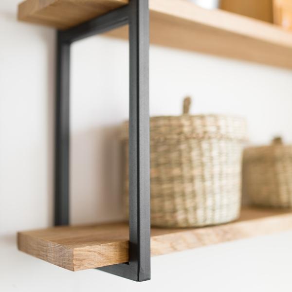 polka008 Dębowa półka na ścianę (mała)