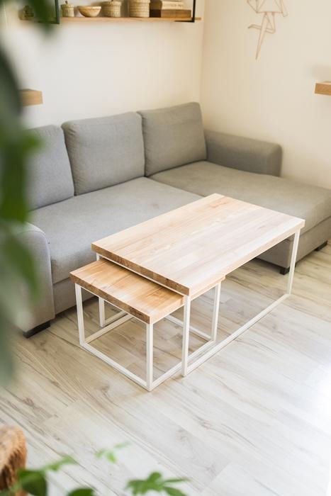 biurko debowe011 1 Chowany stolik kawowy z jesionu