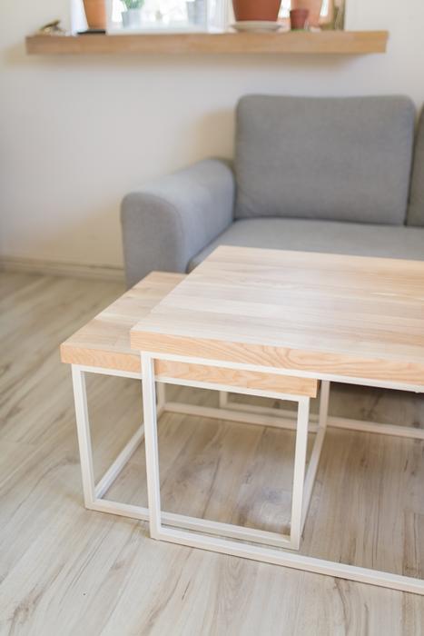 biurko debowe012 1 Chowany stolik kawowy z jesionu