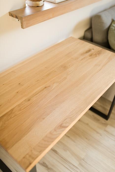 biurko debowe012 Bardzo rustykalne biurko z dębu