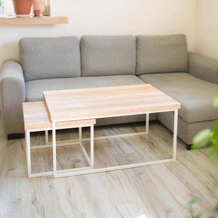 biurko debowe013 1 Chowany stolik kawowy z jesionu