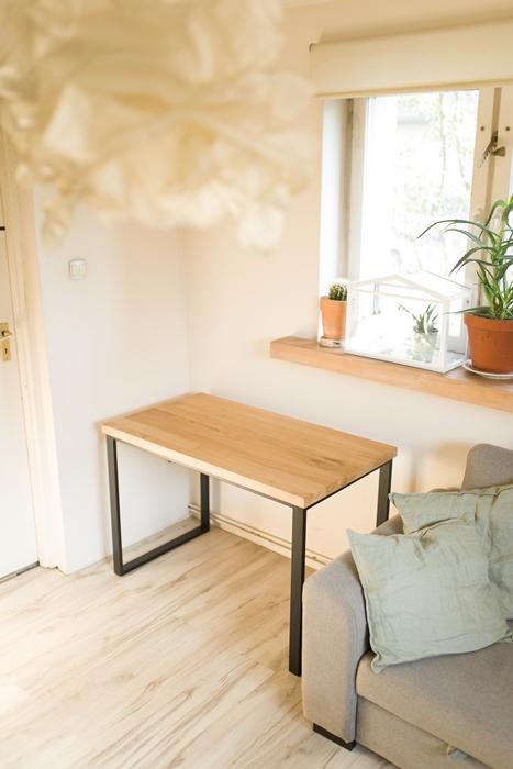 biurko debowe014 Bardzo rustykalne biurko z dębu