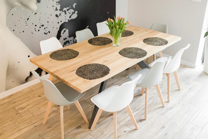stol sskosne nogi007 Rustykalny stół dębowy skośne nogi