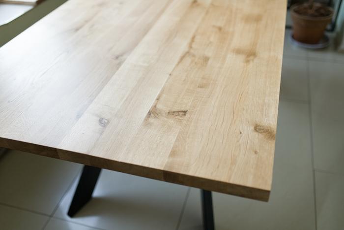 stol sskosne nogi017 Rustykalny stół dębowy skośne nogi