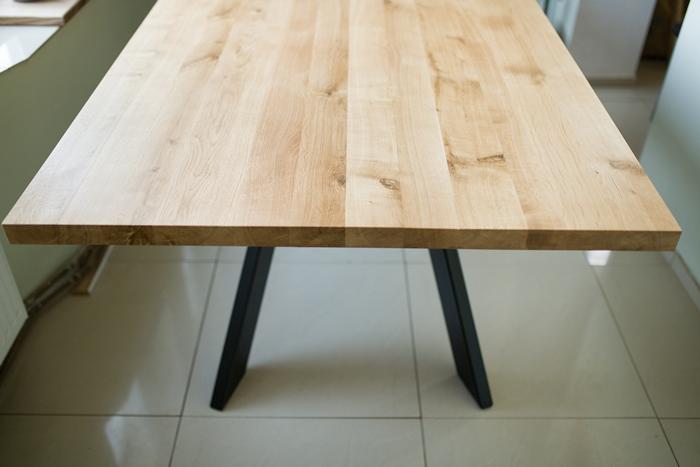 stol sskosne nogi019 Rustykalny stół dębowy skośne nogi
