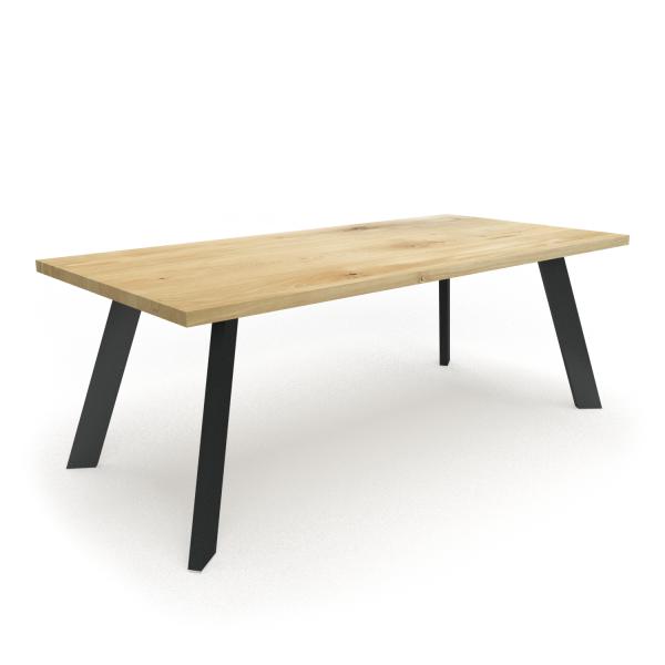 stół industrialny nogi pod kątem