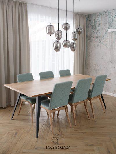 #WI industrialny stół ze skośnymi nogami
