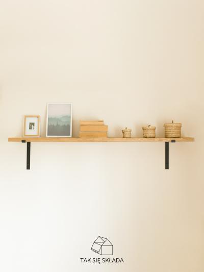 produkt półka drewniana ze wspornikami