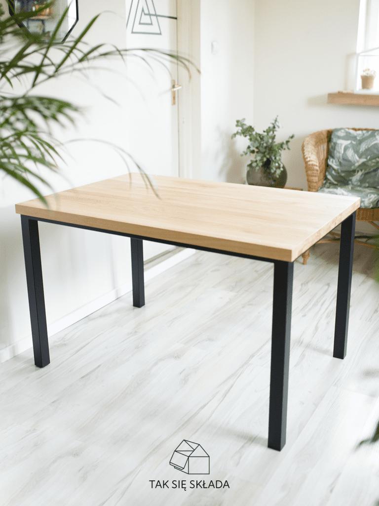 produkt stół industrialny proste nogi i