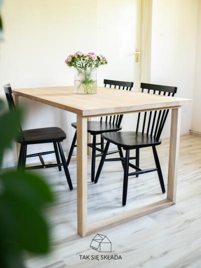 produkt drewniany stół stelaż U